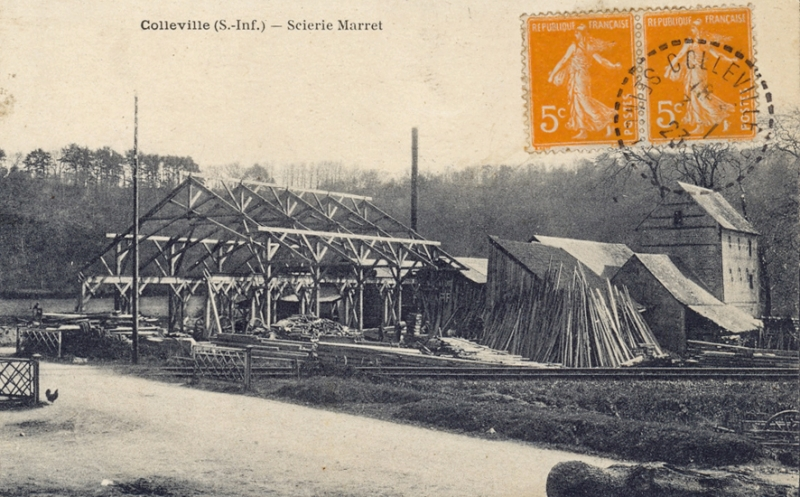 Colleville (S.-Inf.), Scierie Marret